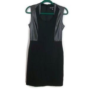 Kenneth Cole Faux Leather Trim Bodycon Dress 6